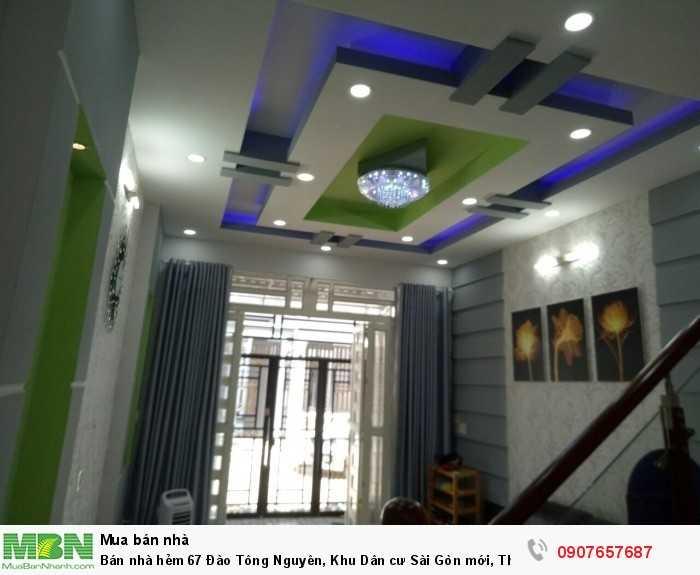 Bán nhà hẻm 67 Đào Tông Nguyên, Khu Dân cư Sài Gòn mới, Thị Trấn Nhà Bè DT 4m x 13m
