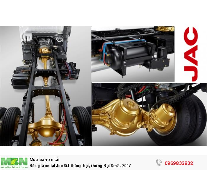 Báo giá xe tải Jac 6t4 thùng bạt, thùng Bạt 6m2 - 2017
