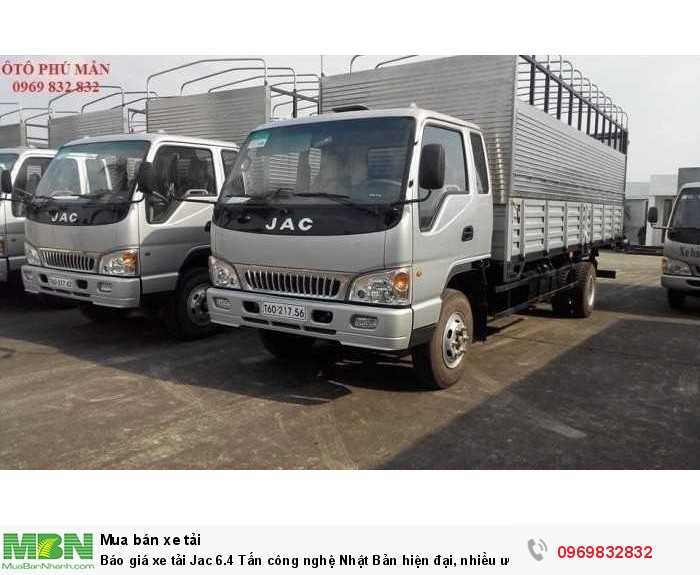 Quý khách không phải chứng minh thu nhập mà vẫn được hỗ trợ vay tốt nhất khi mua xe tải jac 6.4 tấn - Gọi tư vấn Mr Độ 0969 832 832