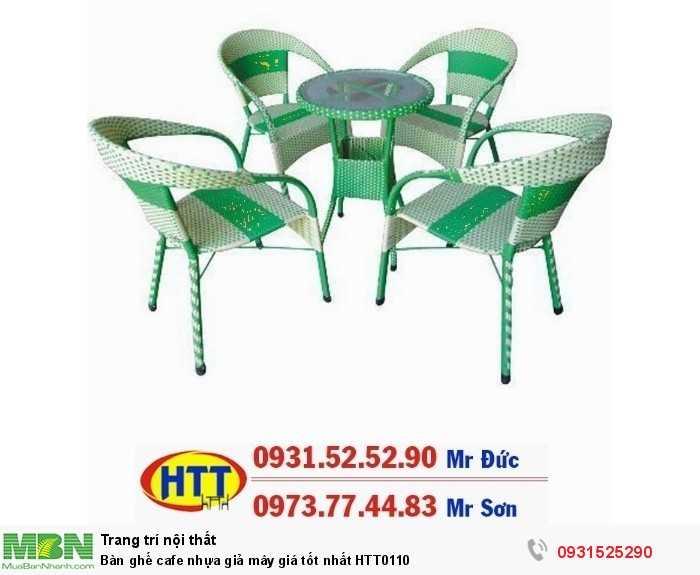 Bàn ghế cafe nhựa giả mây giá tốt nhất HTT01100