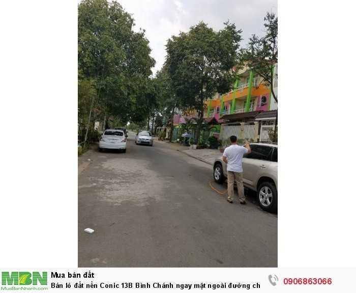Bán lô đất nền Conic 13B Bình Chánh ngay mặt ngoài đường chính số 7, giá 39tr/m2, 120m2