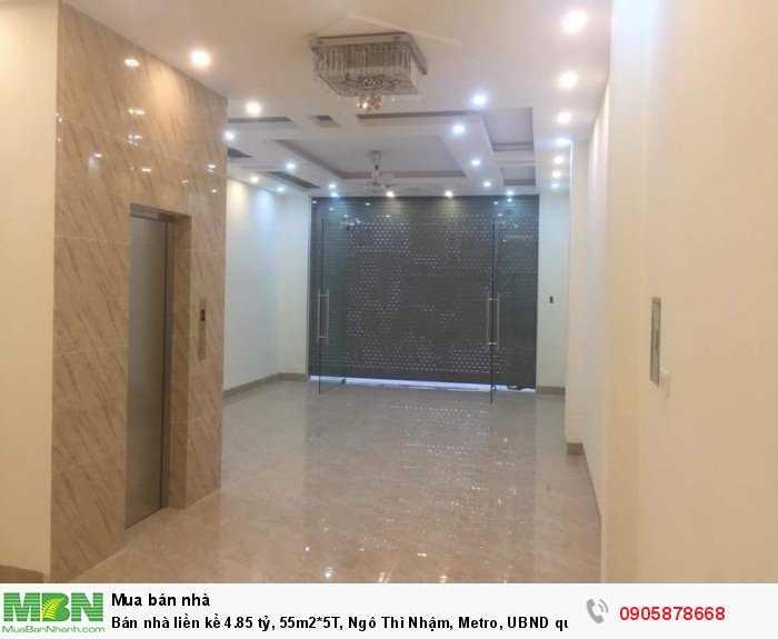 Bán nhà liền kề 4.85 tỷ, 55m2*5T, Ngô Thì Nhậm, Metro, UBND quận  Hà Đông, gara ô tô, kinh doanh tốt