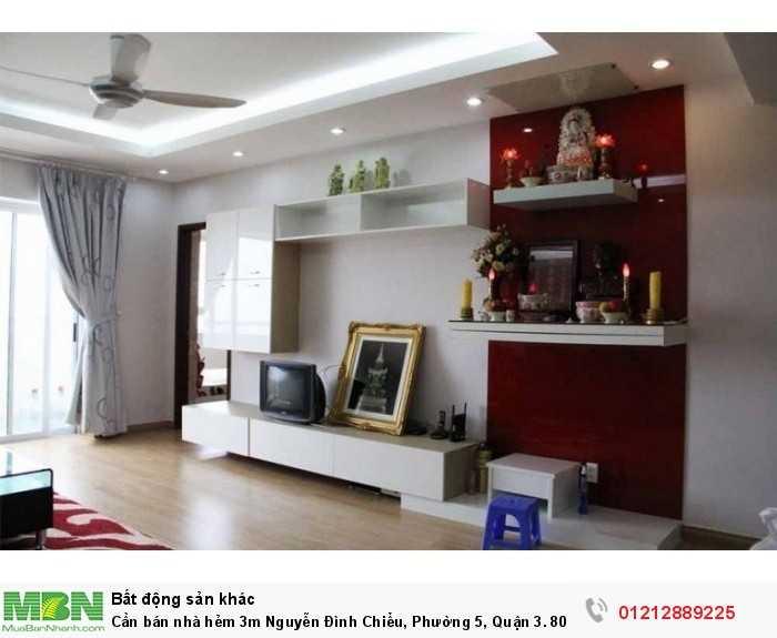 Cần bán nhà hẻm 3m Nguyễn Đình Chiểu, Phường 5, Quận 3. 80m2.