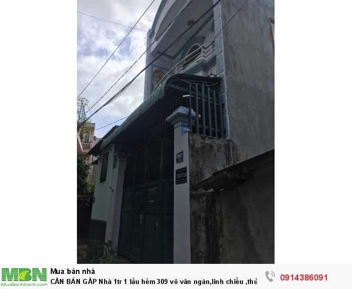 Cần Bán Gấp Nhà 1tr 1 Lầu Hẻm 309 Võ Văn Ngân,Linh Chiểu ,Thủ Đức