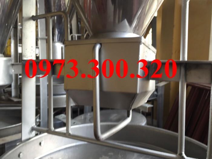 Máng lắc INOX 3 bao sức chứa 75kG tự động cho heo ăn giá rẻ nhất tại Hà Nội