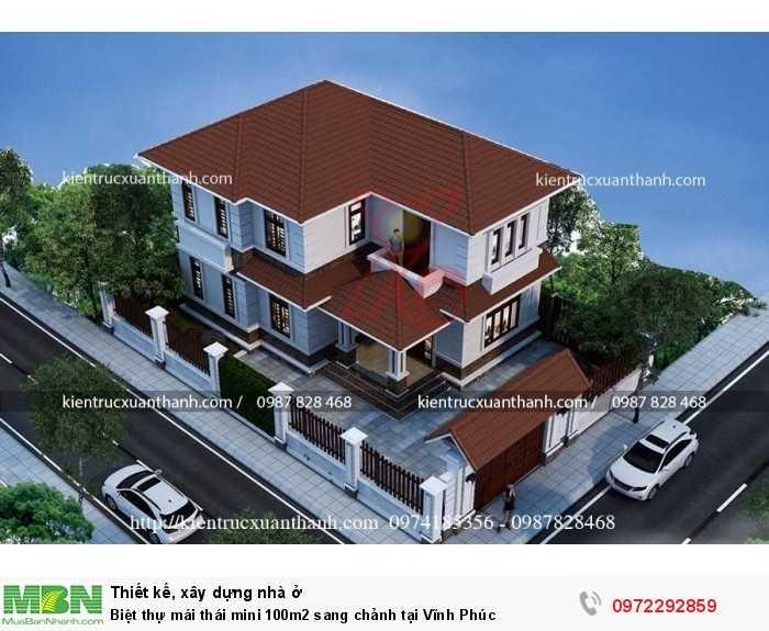 Biệt thự mái thái mini 100m2 sang chảnh tại Vĩnh Phúc