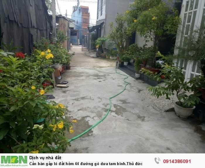 Cần bán gấp lô đất hẻm 44 đường gò dưa Tam Bình. Thủ đức