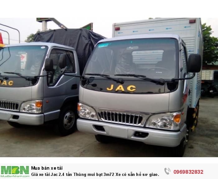 Xe tải Jac 2.4 tấn có sẵn đủ màu, đủ loại thùng hàng giao nhanh! Liên hệ Mr Độ 0969 832 832 tư vấn tận tình 24/24.
