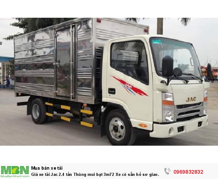 Xe tải JAC 2.4 tấn có mức giá ưu ái hơn và được tin tưởng sử dụng hơn các dòng xe cùng phân khúc - Gọi ngay 0969 832 832 (24/24)