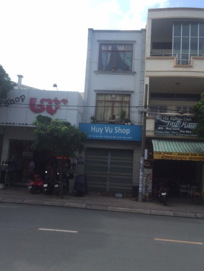 Bán nhà MTKD sầm uất đường Tân Sơn Nhì, Dt 4.05x18.5m giá 13,88 tỷ, P.Tân Sơn Nhì, Q.Tân Phú.