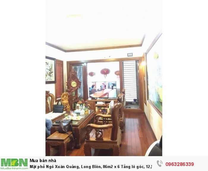 Mặt phố Ngô Xuân Quảng, Long Biên, 86m2 x 6 Tầng lô góc