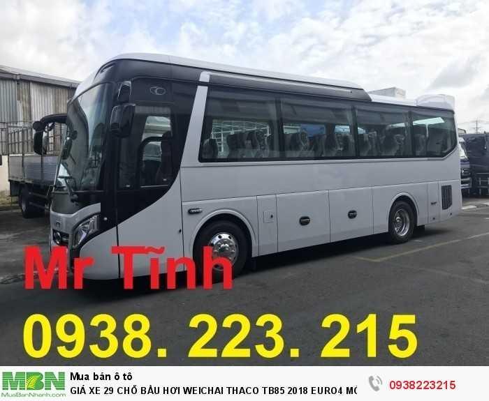 Giá Xe 29 Chỗ Bầu Hơi Weichai Thaco Tb85 2018 Euro4 Mới Nhất 5