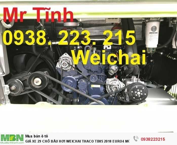 Giá Xe 29 Chỗ Bầu Hơi Weichai Thaco Tb85 2018 Euro4 Mới Nhất 12