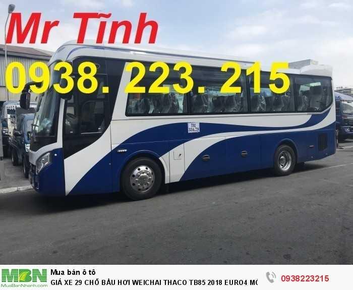 Giá Xe 29 Chỗ Bầu Hơi Weichai Thaco Tb85 2018 Euro4 Mới Nhất 18