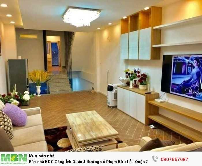 Bán nhà KDC Công Ích Quận 4 đường số Phạm Hữu Lầu Quận 7 DT 4m x 18m, 3 lầu, tặng nội thất