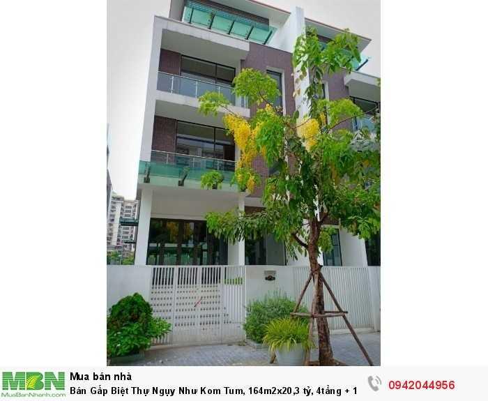Bán Gấp Biệt Thự Ngụy Như Kom Tum, 164m2x20, 4tầng + 1hầm, MT 9m, Hướng Tây Bắc.