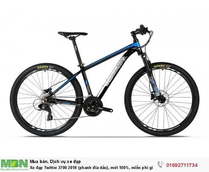 Xe đạp Twitter 3700 2018 (phanh đĩa dầu), mới 100%, miễn phí giao hàng, màu đen xanh...