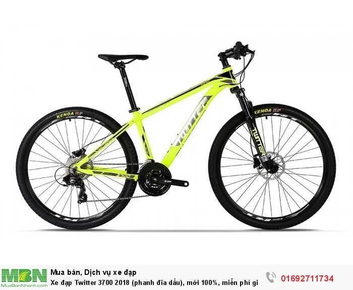 Xe đạp Twitter 3700 2018 (phanh đĩa dầu), mới 100%, miễn phí giao hàng, màu vàng chan...