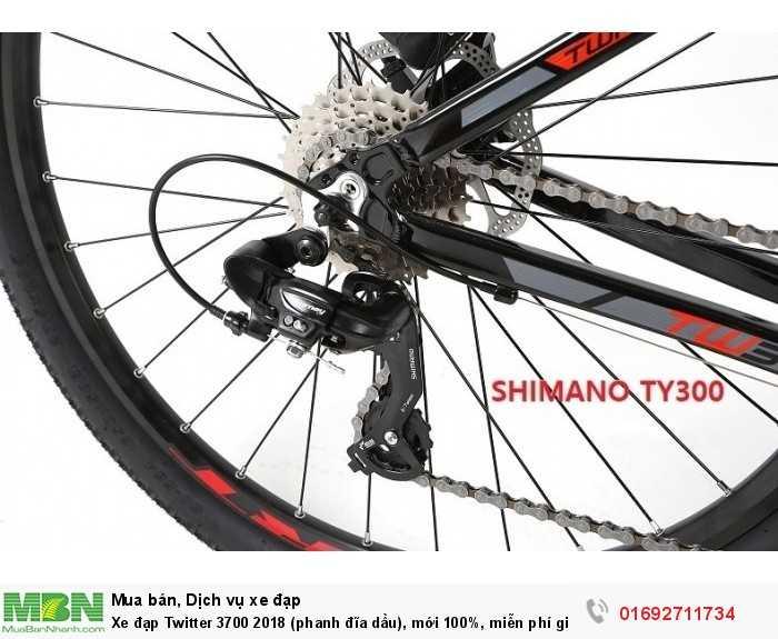 Chuyển tốc sau: Shimano Tourney RD-TY300