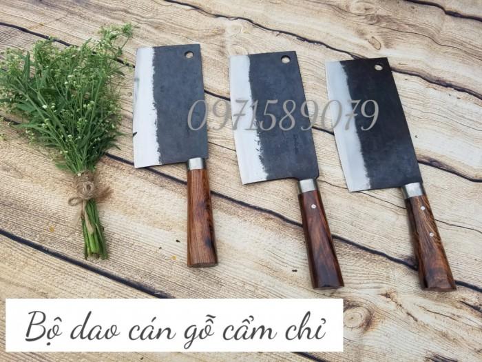 Bộ dao bếp bản rộng cán gỗ cẩm chỉ