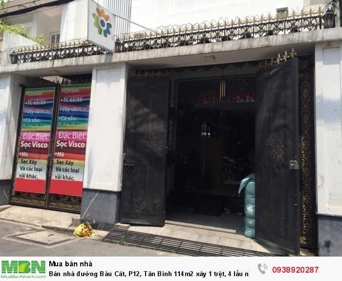 Bán nhà đường Bàu Cát, P12, Tân Bình 114m2 xây 1 trệt, 4 lầu nhà mới 99%.