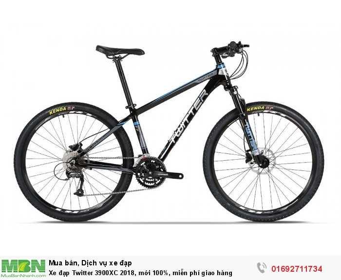 Xe đạp Twitter 3900XC 2018, mới 100%, miễn phí giao hàng, màu đen xanh trời