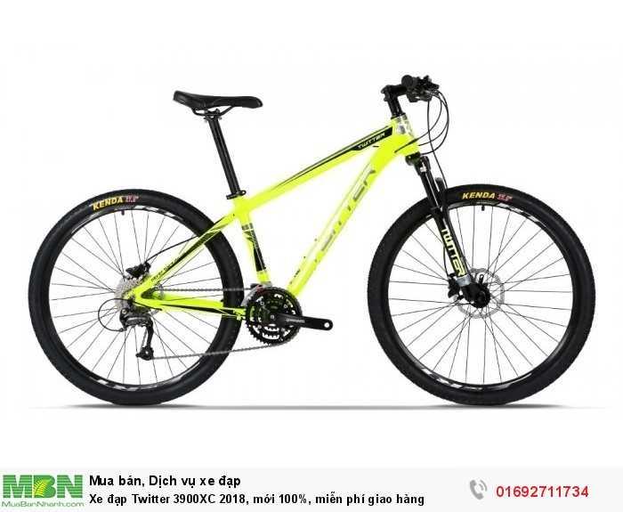 Xe đạp Twitter 3900XC 2018, mới 100%, miễn phí giao hàng, màu vàng chanh