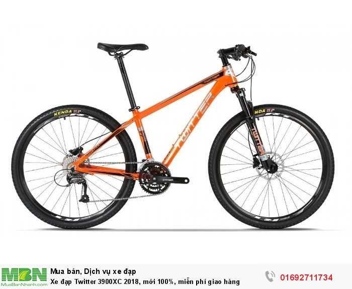 Xe đạp Twitter 3900XC 2018, mới 100%, miễn phí giao hàng, màu cam