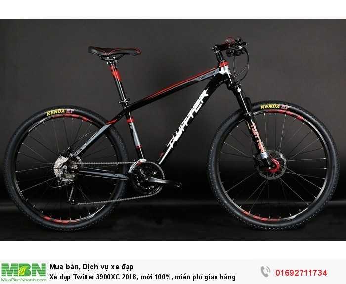 Xe đạp Twitter 3900XC 2018, mới 100%, miễn phí giao hàng, màu đen đỏ