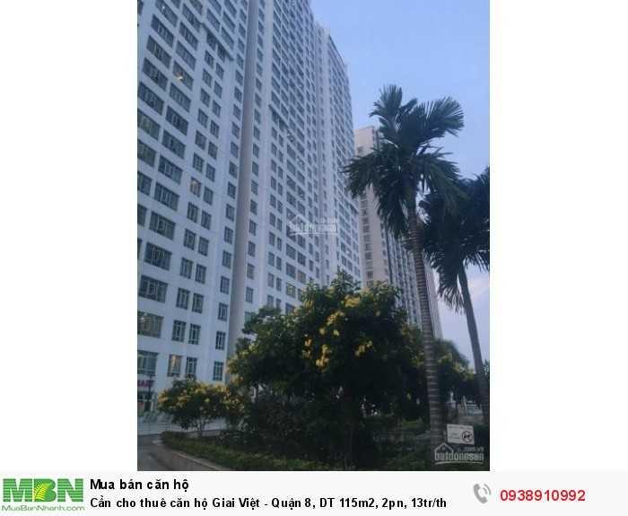 Cần cho thuê căn hộ Giai Việt - Quận 8, DT 115m2, 2pn, 13tr/th