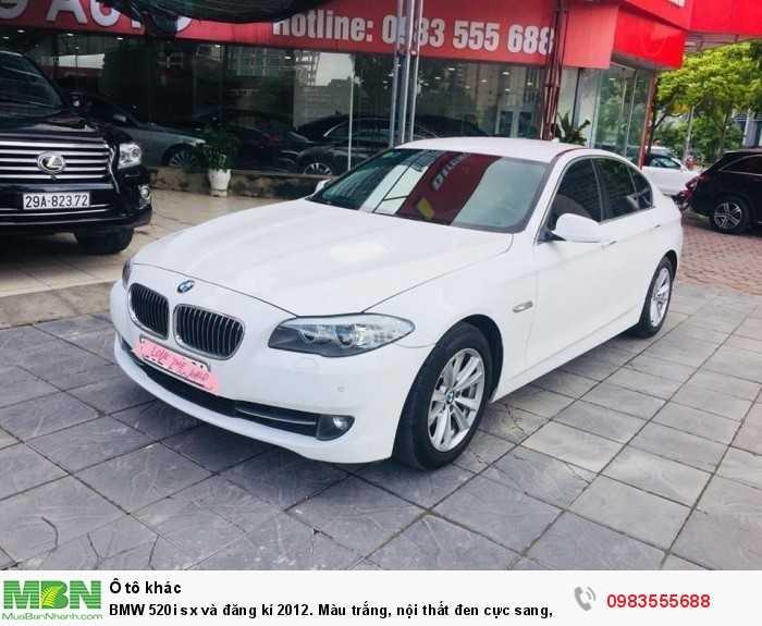 BMW 520i sx và đăng kí 2012. Màu trắng, nội thất đen cực sang,