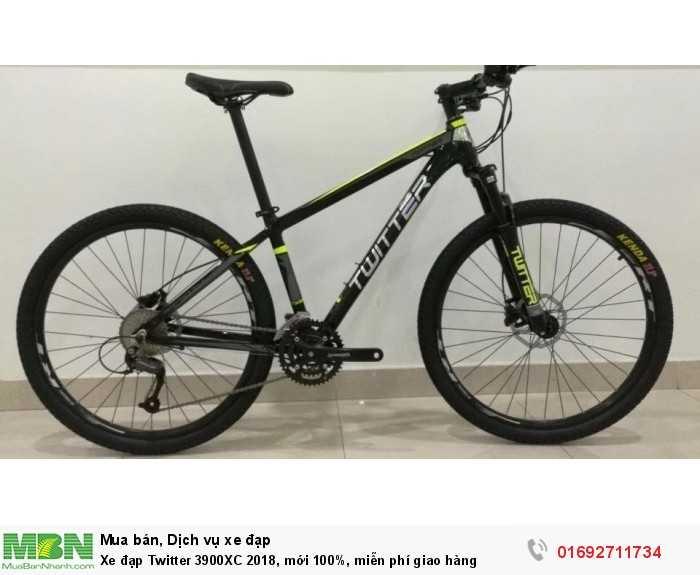 Xe đạp Twitter 3900XC 2018, mới 100%, miễn phí giao hàng, màu đen xanh lá