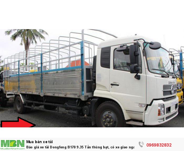 Báo giá xe tải Dongfeng B170 9.35 Tấn thùng bạt, có xe giao ngay, cam kết giá tốt nhất