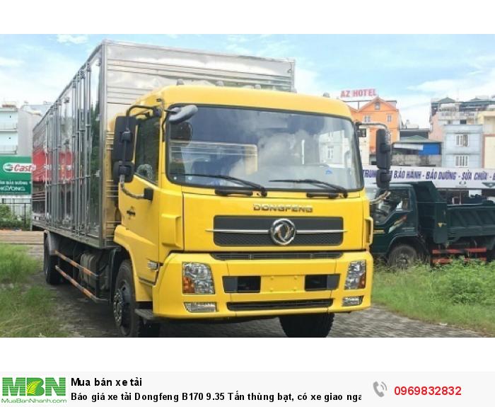 Báo giá xe tải Dongfeng B180 8 - 9 Tấn thùng bạt, Thùng kín 7,5m và 9,5m, có xe giao ngay, cam kết giá tốt nhất 2