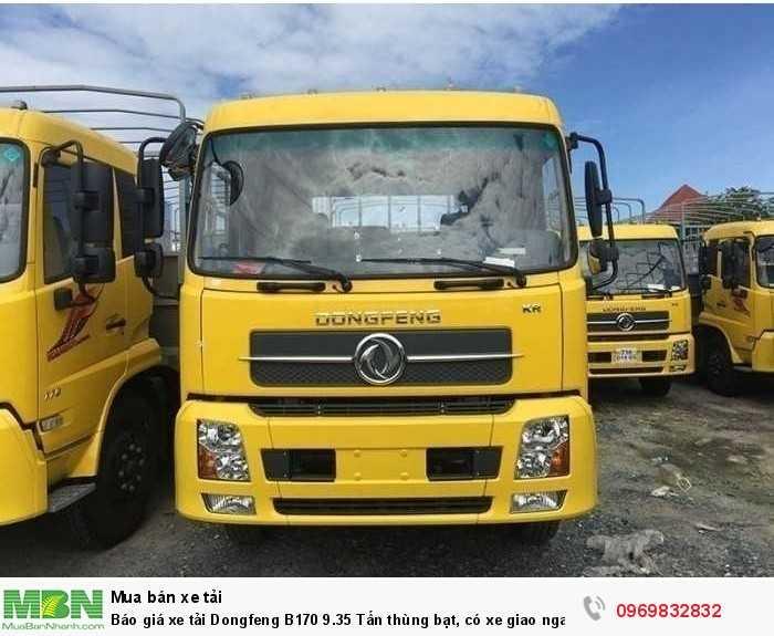 Báo giá xe tải Dongfeng B180 8 - 9 Tấn thùng bạt, Thùng kín 7,5m và 9,5m, có xe giao ngay, cam kết giá tốt nhất 3