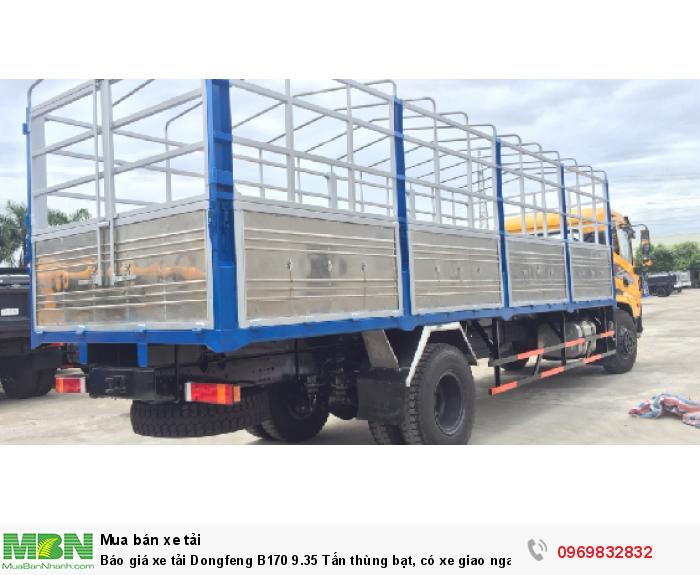 Báo giá xe tải Dongfeng B180 8 - 9 Tấn thùng bạt, Thùng kín 7,5m và 9,5m, có xe giao ngay, cam kết giá tốt nhất 4