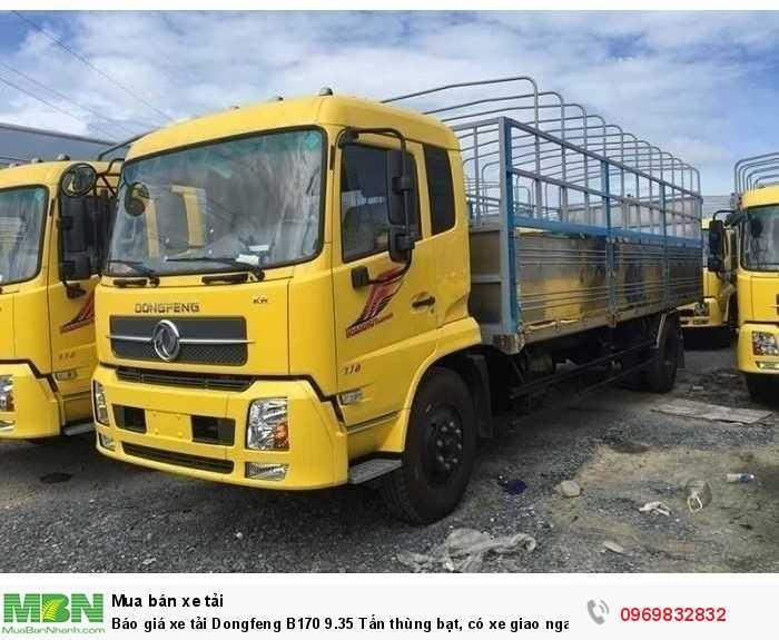 Báo giá xe tải Dongfeng B180 8 - 9 Tấn thùng bạt, Thùng kín 7,5m và 9,5m, có xe giao ngay, cam kết giá tốt nhất 7