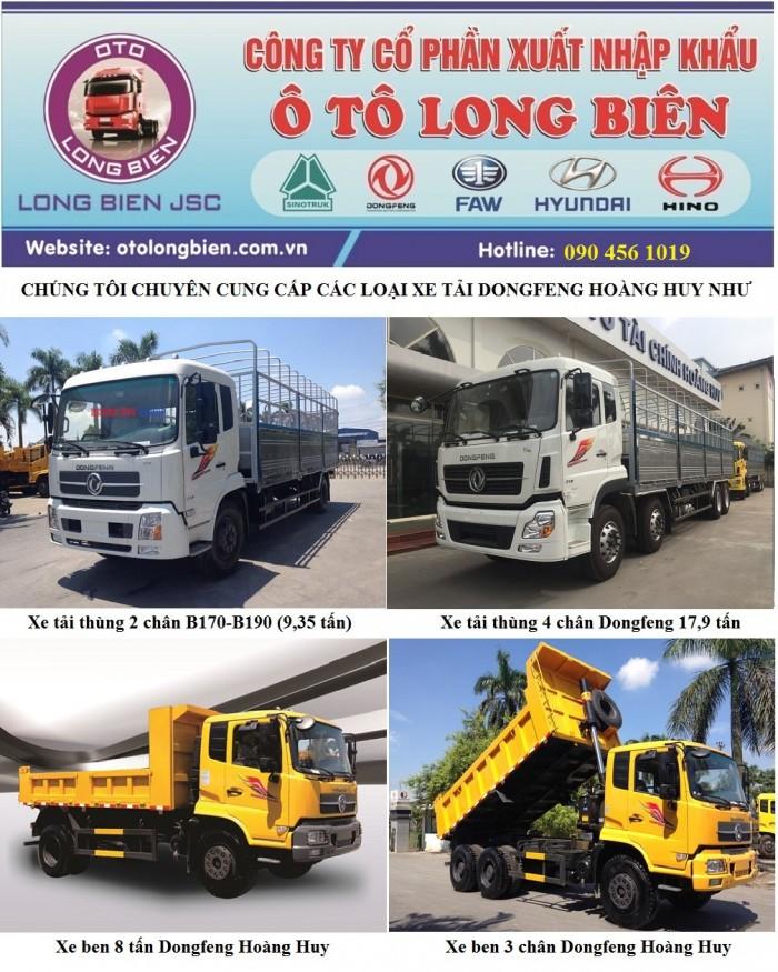 Xe tải thùng 2 chân Dongfeng Hoàng Huy động cơ 170Hp 5