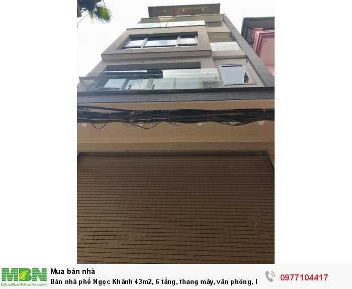 Bán nhà phố Ngọc Khánh 43m2, 6 tầng, thang máy, văn phòng, kinh doanh chỉ 11.6 tỷ