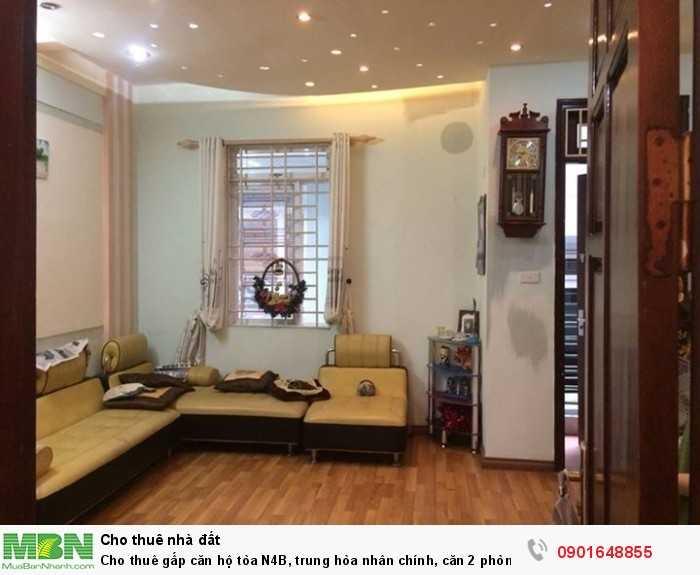 Cho thuê gấp căn hộ tòa N4B, trung hòa nhân chính, căn 2 phòng ngủ, 70m2, giá cực rẻ