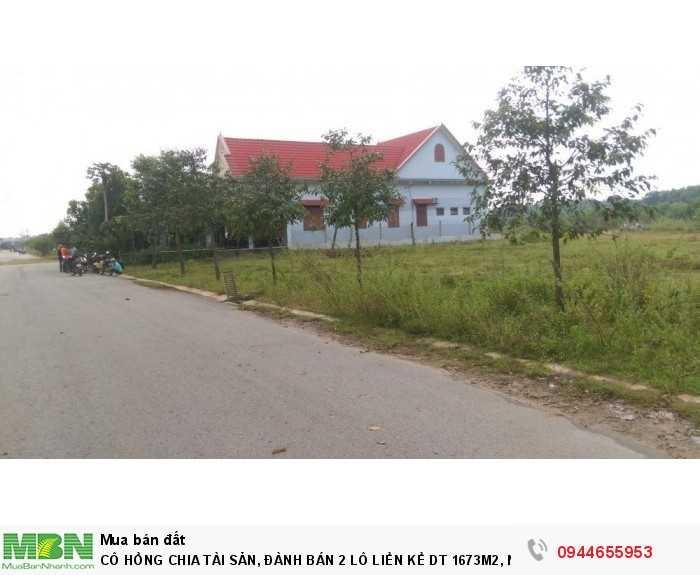 Cô Hồng Chia Tài Sản, Đành Bán 2 Lô Liền Kề Dt 1673m2, Ngang 46m