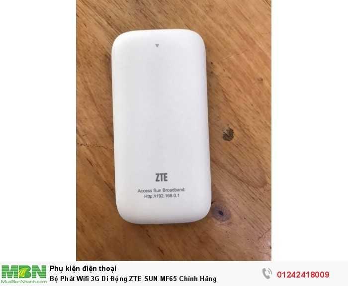 Bộ Phát Wifi 3G Di Động ZTE SUN MF65 Chính Hãng2