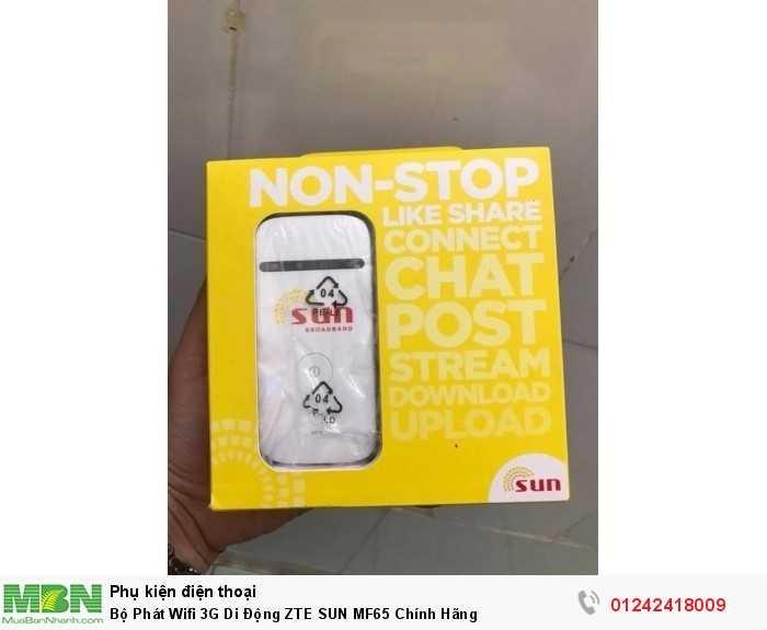 Bộ Phát Wifi 3G Di Động ZTE SUN MF65 Chính Hãng3