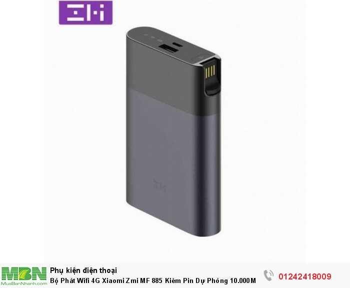 Bộ Phát Wifi 4G Xiaomi Zmi MF 885 Kiêm Pin Dự Phòng 10.000Mah Chính Hãng3