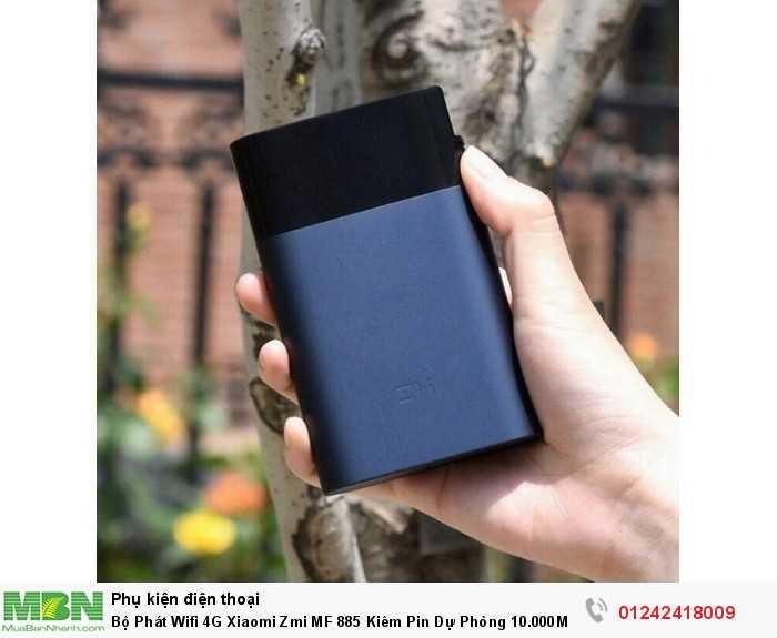 Bộ Phát Wifi 4G Xiaomi Zmi MF 885 Kiêm Pin Dự Phòng 10.000Mah Chính Hãng4