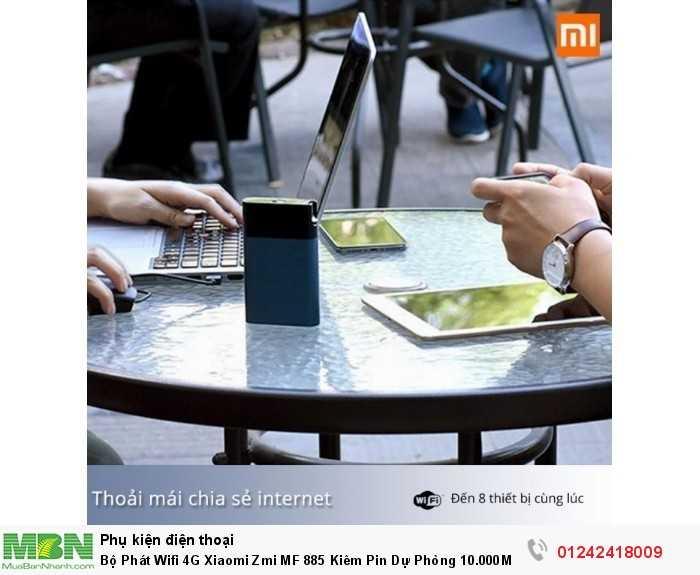 Bộ Phát Wifi 4G Xiaomi Zmi MF 885 Kiêm Pin Dự Phòng 10.000Mah Chính Hãng7