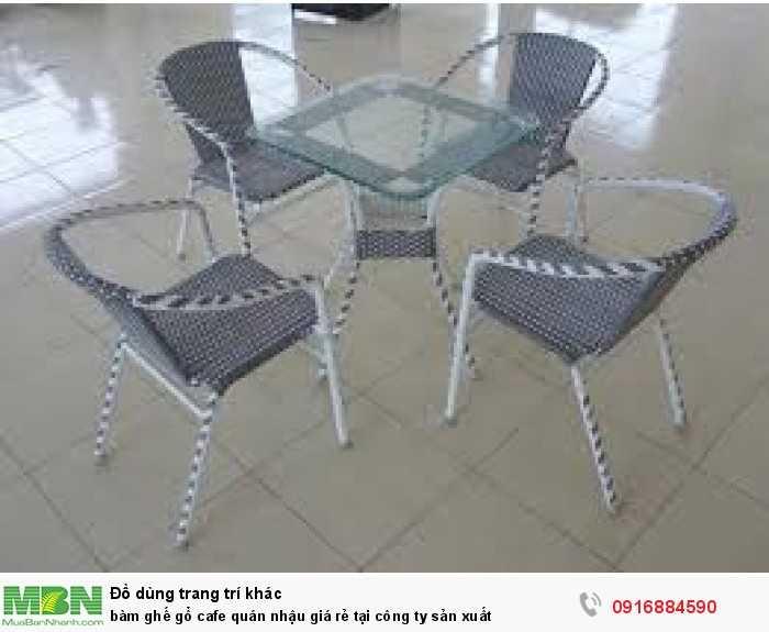 Bàn ghế gổ cafe quán nhậu giá rẻ tại công ty sản xuất