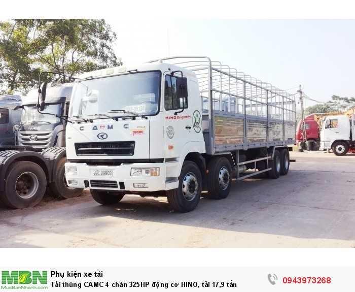 Tải thùng CAMC 4 chân 325HP động cơ HINO, tải 17,9 tấn