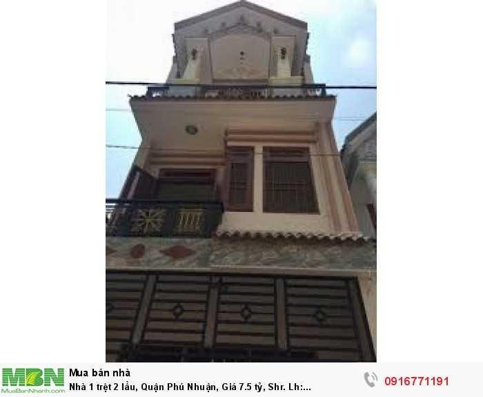 Nhà 1 trệt 2 lầu, Quận Phú Nhuận