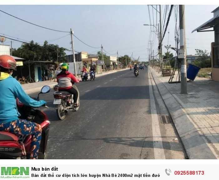 Bán đất thổ cư diện tích lớn huyện Nhà Bè 2400m2 mặt tiền đường Nguyễn Văn Tạo